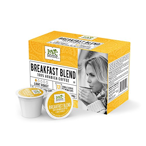 LoveSome Breakfast Blend K-Cup, 12 Count (Pack of (Breakfast Blend Light)