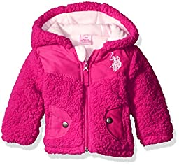U.S. Polo Assn. Baby Girls\' Whubby Shell Jacket, Pink Rose, 12 Months