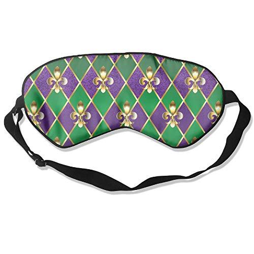 Sleeping Mask Fleur De Lis Mardi Gras Adjustable Head Strap Eyeshade -