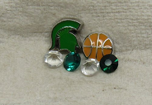Michigan State Cutout Basketball Package Floating Charm