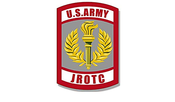 amazon com army jrotc seal shaped sticker junior military rotc rh amazon com army rotc login army jrotc emblem