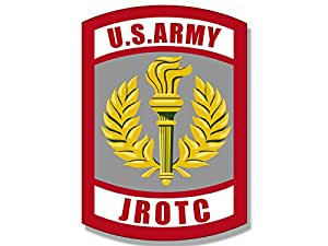 amazon com army jrotc seal shaped sticker junior military rotc rh amazon com army rotc logo vector army rotc login