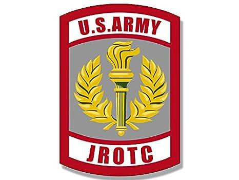 amazon com army jrotc seal shaped sticker junior military rotc rh amazon com army jrotc emblem us army jrotc logo