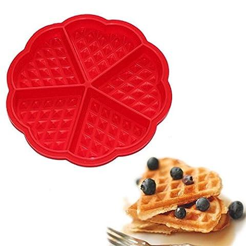 Shaped Waffles Mold Bundt Oven Muffins Cake Pan Silicone 5-cavity Mould Diy Baking Tool - Heritage Fat Quarter Bundle