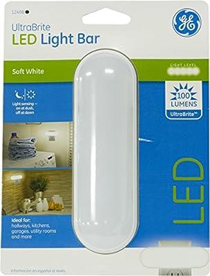 GE 12498 Ultrabright Light-Sensing LED Light Bar (100 lm), White