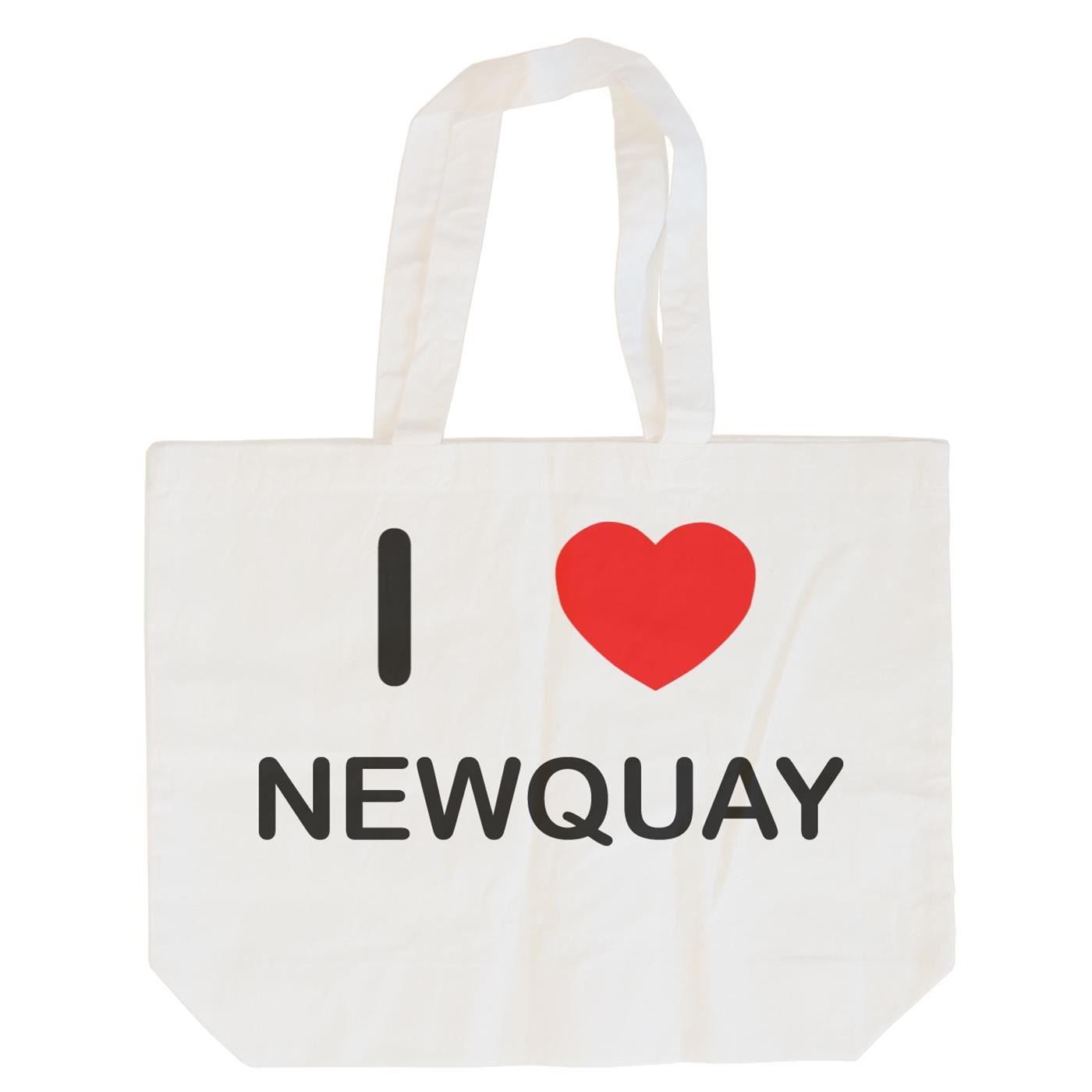 I Love Newquay Cotton Long Handle Sling Bag