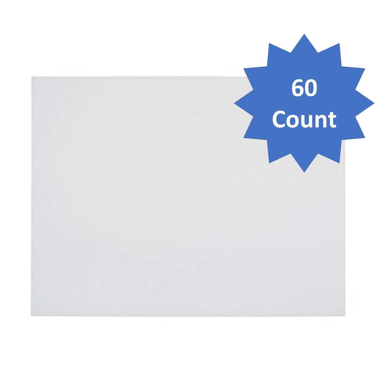 School Smart Railroad Boards, 22 x 28 Inches, 6-Ply, White, Pack of 60-1485742 (White, Pack of 60) by School Smart