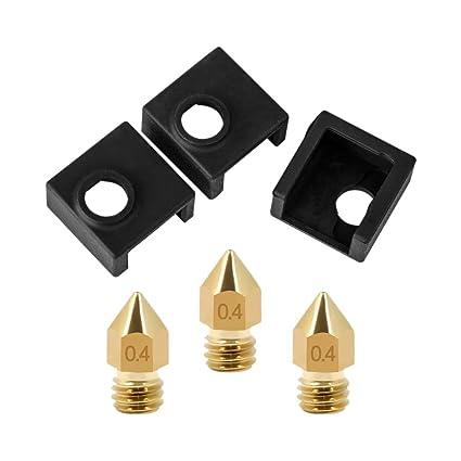 SODIAL 3D Impresora Bloque Calentador Cubierta De Silicona Hotend Mk7 / Mk8 / Mk9 para Ender 3, Ender 3 Pro, Cr-10,10S, S4, S5 Anet A8 Y Extrusora ...