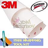 FREE TOOL KIT 3M Scotchgard Hood Bumper Paint Protection Brace Clear Film Vinyl Wrap Decal Self Adhesive - 12''X360'' (1FT x 30FT)