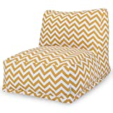 Majestic Home Goods Yellow Zig Zag Bean Bag Chair Lounger