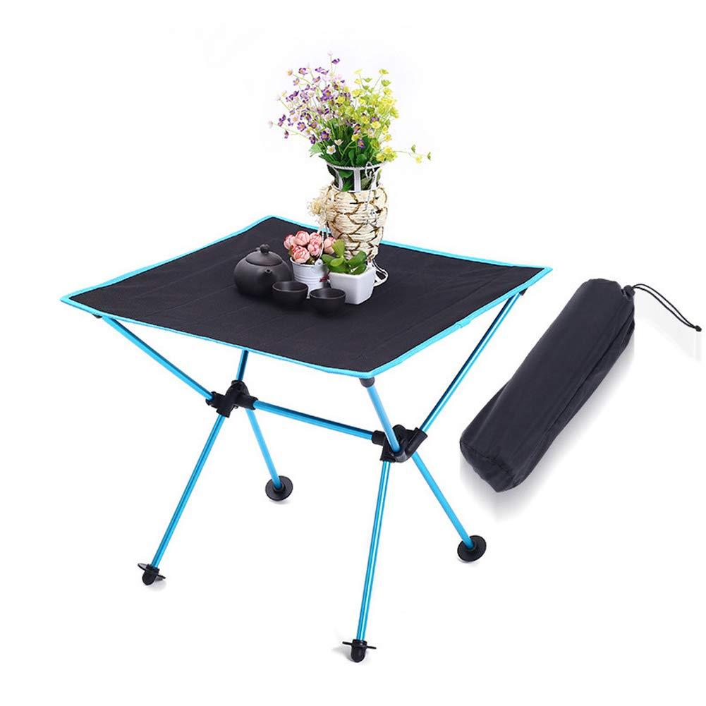 Dracarys De Plein air Ultra-l/éger Portable Table Pliable Oxford Cloth Desktop Support en Alliage daluminium pour Le Camping Barbecue Pique-Nique P/êche avec Sac de Rangement
