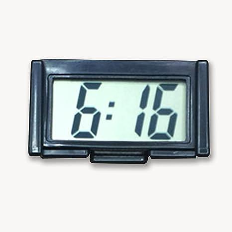 HMOCNV - Soporte autoadhesivo para salpicadero de coche, pantalla LCD, reloj digital