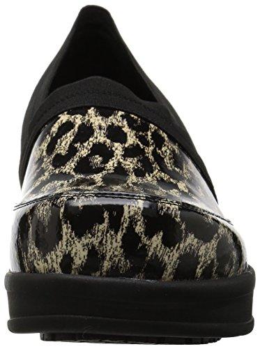 Works para de Leopard Beige Black Easy Salud Mujer Profesionales Zapatillas 7wCtqSO