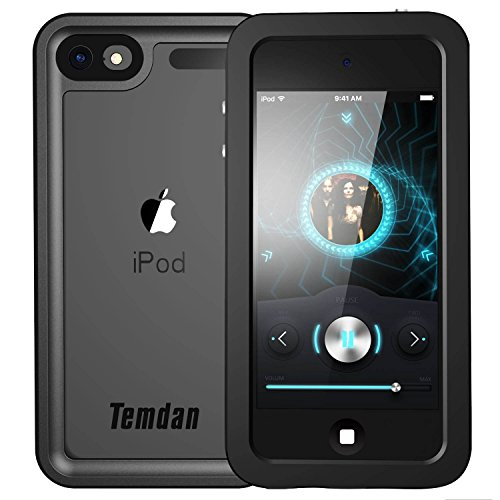 Temdan iPod Touch 5/6 IP68 Waterproof Case with Kickstand Shockproof Waterproof Case for iPod Touch 5/6 (Metal (Ipod Touch Metal)