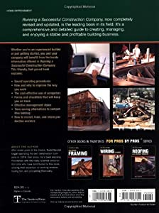 Running a Successful Construction Company (For Pros, by Pros) from Taunton Press