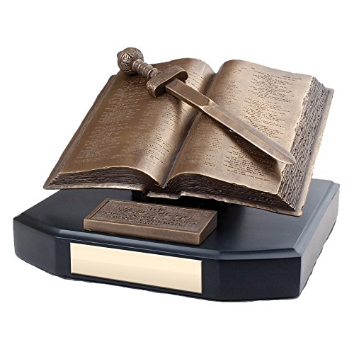 Lighthouse Christian Products Moments of Faith Word of God Award Edition Sculpture, 8 1/4 x 6 1/2 x 4