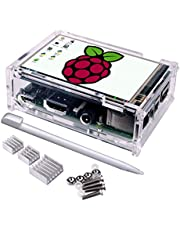 3.5'' TFT Touch Screen,Quimat 320x480 Resolution LCD Display with Protective Case, 3Heat Sinks and Touch Pen for Raspberry Pi 3 Model B, Pi 2 Model B & Pi Model B