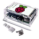 Electronics : 3.5 Inch TFT Touch Screen,Quimat 320x480 Resolution LCD Display with Protective Case 3Heat Sinks and Touch Pen for Raspberry Pi 3 Model B, Pi 2 Model B & Pi Model B