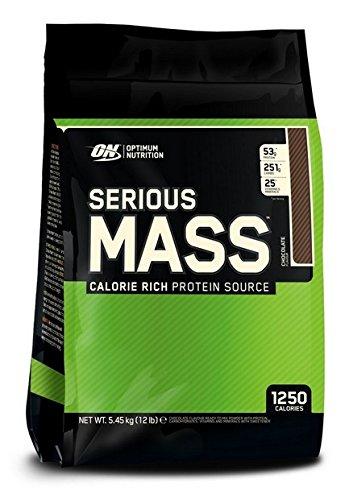 Optimum Nutrition Serious Mass Gainer Protein Powder, Chocolate, 12 Pound 748927023800