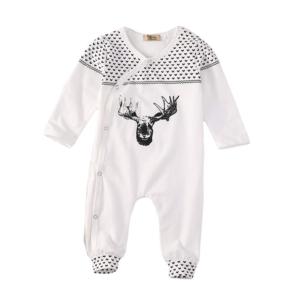 SAMBER- Bébé Romper Conjointé Vêtements Combinaison Bébé Printemps et été Collant à Manches Justaucorps pour Les Filles Garçons(XL:100cm)