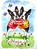 Cheap Caroline's Treasures 7015CHF Hugs Boston Terrier Flag Canvas, Large, Multicolor
