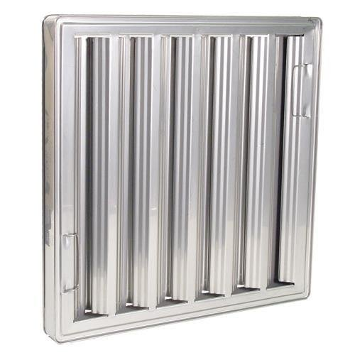 CHG FR51-2520 Exhaust Hood Grease Filter Baffle 25X20 Stainless 31250 Fr51-2520 by CHG