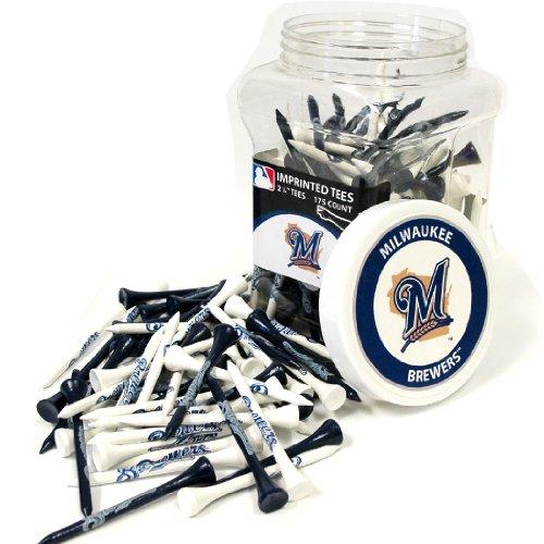 "Team Golf MLB Milwaukee Brewers 2-3/4"" Golf Tees, 175 Pack, Regulation Size, Multi Team Colors"