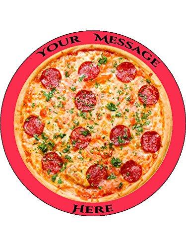 Novelty Personalised Fun Pepperoni Pizza 7.5