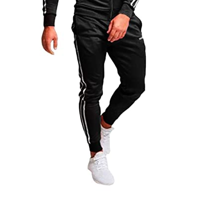 Mens Fashion Joggers Sports Pants Advanced Cargo Pants Elastic Sweatpants with Pockets at Men's Clothing store