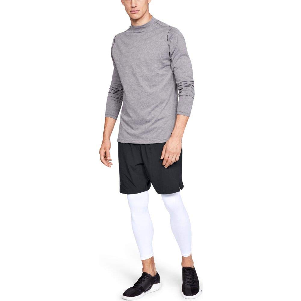 Under Armour Men's ColdGear Armour Compression Leggings, White (100)/Steel, XX-Large Tall by Under Armour