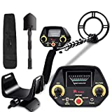 RM RICOMAX Metal Detector for Adults & Kids - Gold Detector [Disc & Tone & P/P Modes] Metal Detector with View Meter & Headphones Jack Metal Detector Waterproof with High-Accuracy Easy to Use GC-1023