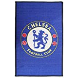 Chelsea FC Official Printed Soccer Crest Rug (One Size) (Blue)