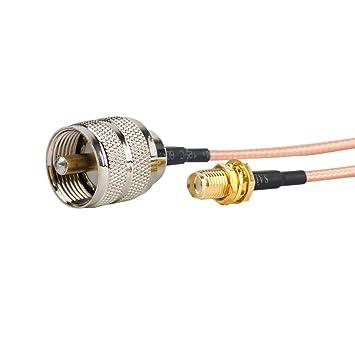 2pcs 6 inch/0.5FT/15 cm SMA hembra a UHF PL-259 Macho Cable - coaxial RF coaxial cable Asamblea: Amazon.es: Bricolaje y herramientas
