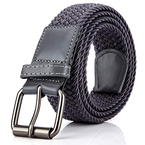 Elastic Braided Woven Belt for Men/Women, 1.3 Inch Stretch Waist Belt for Jeans Pants with Multi Color Size ()