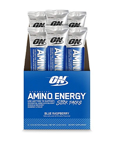 Amino Energy with Green Tea and Green Coffee Extract, Blue Raspberry, 6 Count