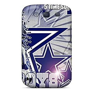 Shock Absorption Hard Cell-phone Cases For Galaxy S3 With Unique Design Beautiful Dallas Cowboys Pictures ZachDiebel