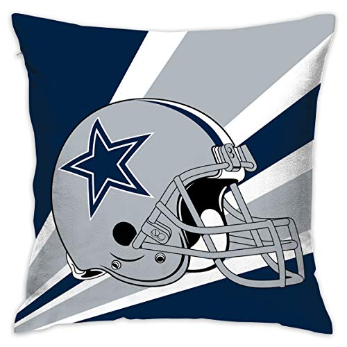 Marrytiny Custom Pillowcase Colorful Dallas Cowboys American Football Team Bedding Pillow Covers Pillow Cases for Sofa Bedroom Bedding Car Home Decorative - 18x18 Inches