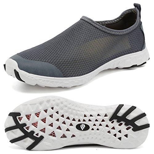 Fanture Uomo E Donna Aqua Water Scarpe Quick Drying Maglia Leggera Slip-on Sportivo Sportivo Sneakers Casual Gray03