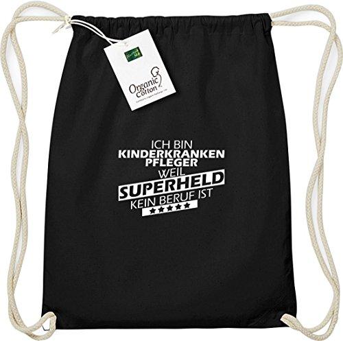 Shirtstown - Bolso de tela de algodón para mujer negro