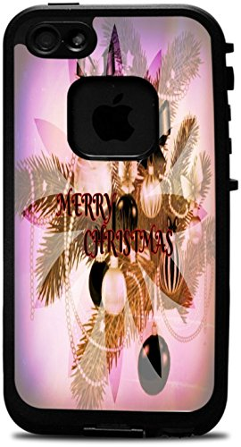 Merry Christmas Holiday Season Decorations Design Print Image Lifeproof Fre iPhone 4 Vinyl Decal Sticker Skin