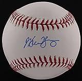 Michael Young Signed OML Baseball (MLB Hologram) MLB Authentication Hologram