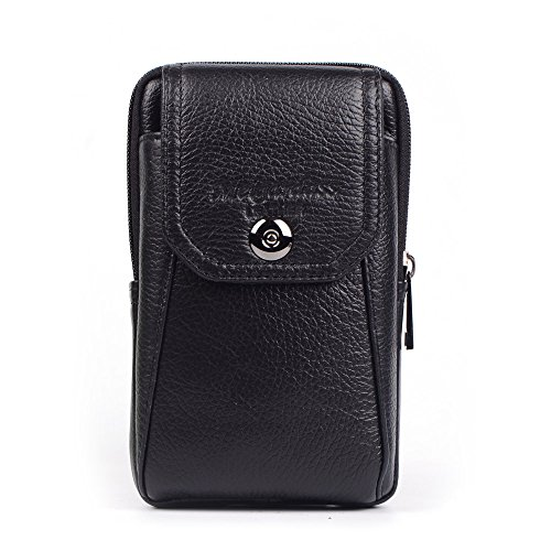 Langzu Genuine Leather Cell Phone Case Cellphone bag Belt Waist Bag with card slot Keychain Carrying Cell Phone Case iPhone 7plus/7/6splus/6/se/Samsung Galaxy - Sunglasses Info