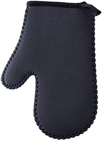手袋 日常 実用 反火傷防止手袋ゴム二重層の絶縁材の高温反火傷防止手袋 (Color : Gray, Size : L-Two pieces)