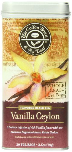 The Coffee Bean & Tea Leaf, Tea, Hand-Picked Vanilla Ceylon, 20 Count Tin