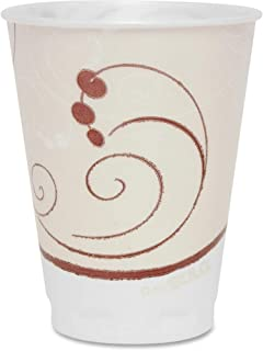 product image for Symphony Design Trophy Foam Hot/Cold Drink Cups, 12oz, Beige, 100/Pack