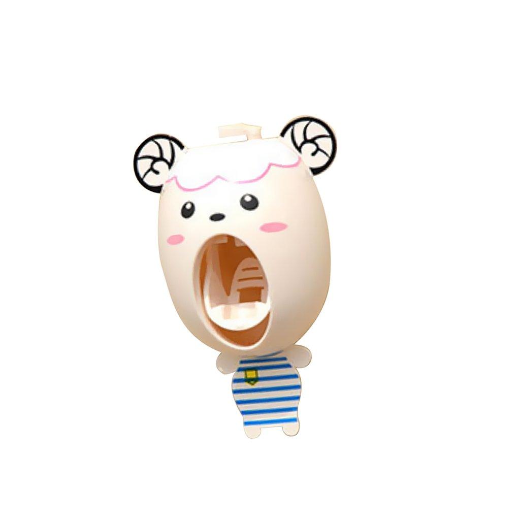 Soporte de Cepillo de Dientes Holder Dibujos Animados Dispensador de Pasta Automático Para Niños: Amazon.es: Hogar