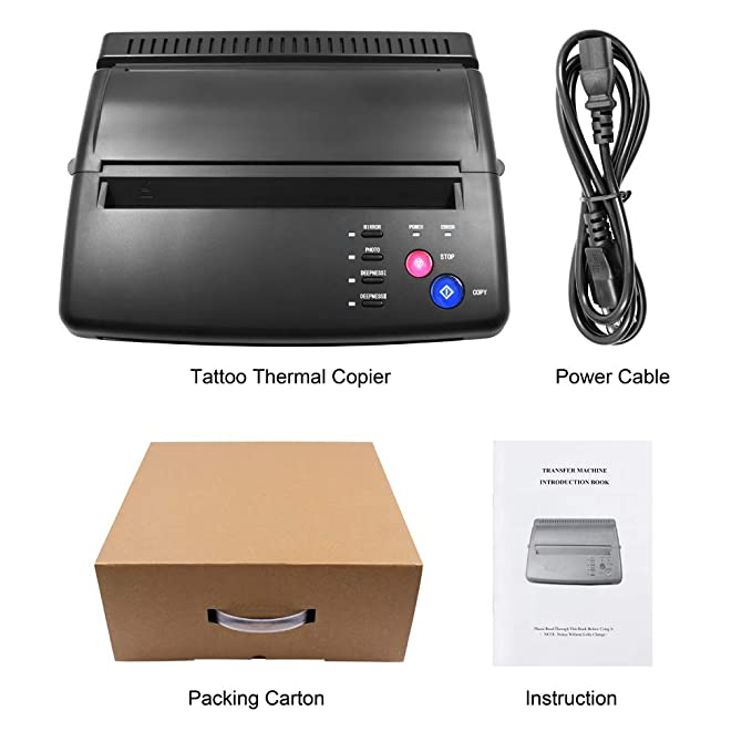 Máquina de transferencia de tatuajes BIOMASER® Tattoo Printer Drawing Thermal Stencil Maker Copiadora para Papel de Transferencia de Tatuajes Papel de ...