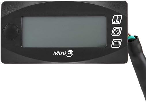 Motorrad Spannung Zeit 2-in-1 Multifunktion Voltmeter Rot Digital Anzeige