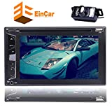 Rear View Camera Included!!! 2 Din Car Radio Audio Stereo DVD CD Player In Dash Head Unit Autoradio support 6.2″ Bluetooth Touch Screen Steering Wheel Control Remote Control Sub-woofer 1080P Vide For Sale
