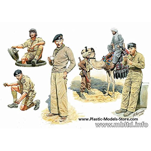 Master Box Models 1/35 British Troops in Northern Africa, WWII - 6 Figures Set with Camel from Master Box Models